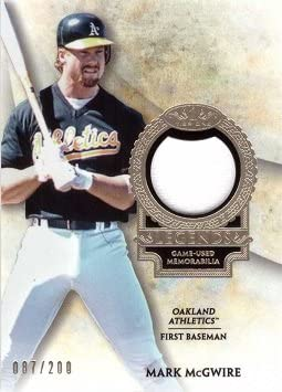 5 ☆ popular 2017 Topps Topics on TV Tier One Relics Legends Game #T1RL-MM Wo Mark McGwire