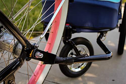 PETIQUE Bike Adapter for All Terrain Jogger Pet Stroller Bike Adapter, Black, One Size (BA01000000) 2