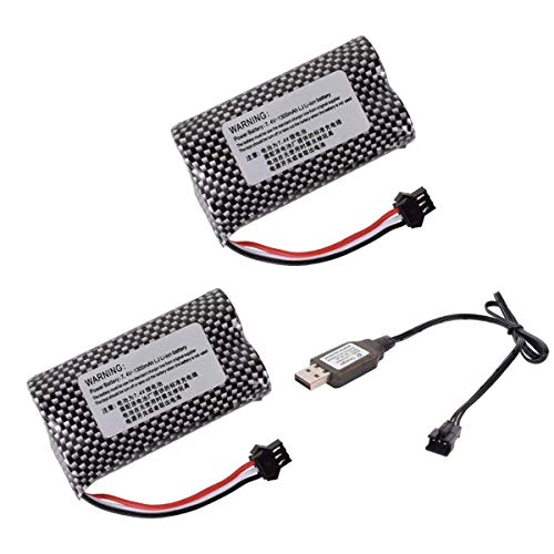 7.4V 1300mAh SM3P Li-ion Batteries with 2S SM-3P Charging Cable for Some Kind of Stunt Toy Car Watch Off-Road Truck Clamping Car Remote Control Machine