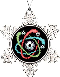 Cheyan Personalised Christmas Tree Decoration Atomic Soccer Merry Christmas from Heaven Snowflake Ornament