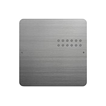 Three By Three Seattle Square Dot Magnetic Bulletin Board 12 Inches Stainless Steel 1 Pack  32430