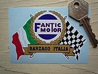 Fantic Motor Flag & Scroll Sticker ファンティックモーター フラッグ ステッカー シール デカール レッド&ホワイト 95mm x 65mm [並行輸入品]