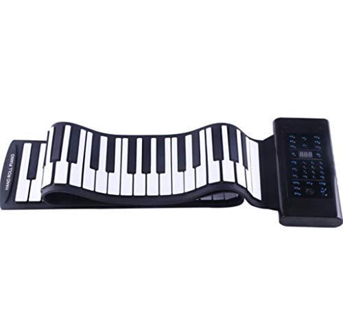 TOHOYOK Verdickte Hand gerollt Klavier, Neue 88-Tasten tragbare Klaviertastatur, Unterstützung MIDI-Ausgang Mikrofon Audio-Eingang Funktion, eingebaute Lautsprecher und 1000 mA Lithium-Batterie