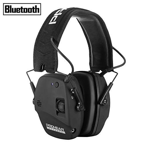 PROHEAR 030 Electronic Shooting Ear Protection Muffs with Bluetooth, Sound Amplification Noise...