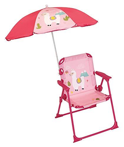 Fun House 713142 Lama Chaise pliante Avec Parasol pour Enfant Silla Plegable...