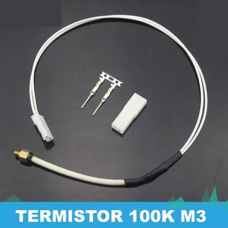 termistor 100k con rosca M3 y conector JST de 2 pines. Accesorios y respuestos impresoras 3D. Sensor de temperatura hot-end