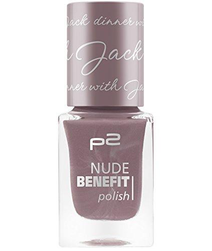 P2 Cosmetics Nude Benefit Polish, 3-pack (3 x 10 ml) Nagellak 060 beige
