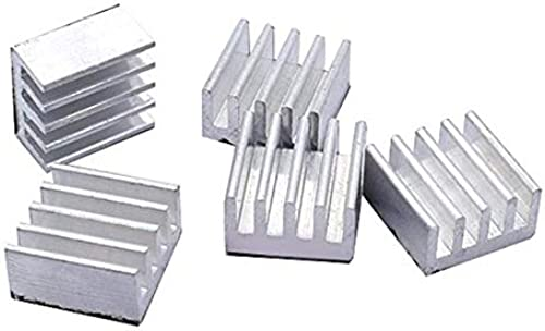 Ritedeal Heat sink for A4988 Stepper Driver Aluminium Silver Heat Sink For 3D Printer IC Heat sink for other electronic items Ritedeal Qty 4 pcs