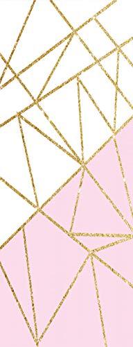 Vinilos para PuertasTextura Dorada Papel Pintado Póster Autoadhesiva Extraíble Impermeable Decorativas de pegatinas puertas para Cuarto y Baño 77x200cm