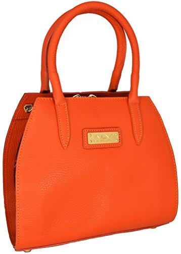 ALVIERO MARTINI Borsa Bauletto Piccolo Arancione/Moka Donna Small Bag...