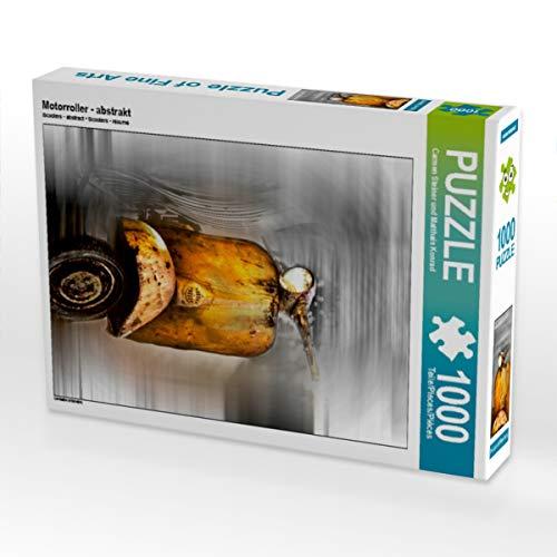 CALVENDO Puzzle Motorroller - abstrakt 1000 Teile Lege-Größe 48 x 64 cm Foto-Puzzle Bild von Carmen Steiner