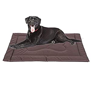 CHEERHUNTING Dog Crate Mat Crate Pad 36″/42″, Water Resistant, Machine Washable, Large Size Dog Mats for Sleeping, Anti Slip Dog Bed for Crate