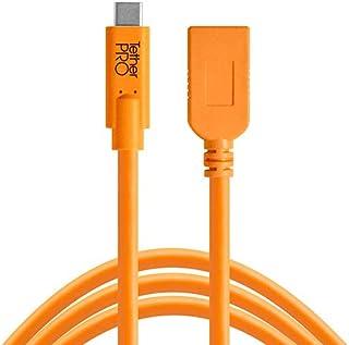Tether Tools TetherPro USB-C to USB Female Adapter (extender) - Bağlantı Kablosu 15' (4.6m), High-Visibility DSLR Kamera, Turuncu