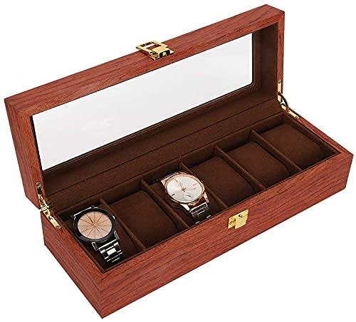 T.T-Q Caja de Reloj de Madera de 6 dígitos Cajas para Relojes Caja de Almacenamiento Caja de Regalo Caja de Embalaje Caja de presentación Caja de colección Regalo de cumpleaños 31.5 * 11 * 8.2cm