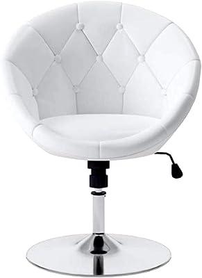 Brilliant Amazon Com Round Swivel Accent Lounge Chair With Tufted Machost Co Dining Chair Design Ideas Machostcouk