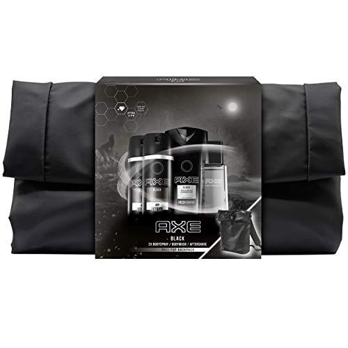 Axe Geschenkset Black mit limitiertem Rucksack (2 x Bodyspray 150 ml & 1x Duschgel 250 ml & 1x Aftershave 100 ml)