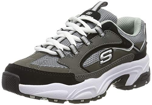 Skechers Stamina-Cutback, Zapatillas Niños, Gris (CCBK Charcoal & Black Leather/Charcoal & Black Trim), 30 EU