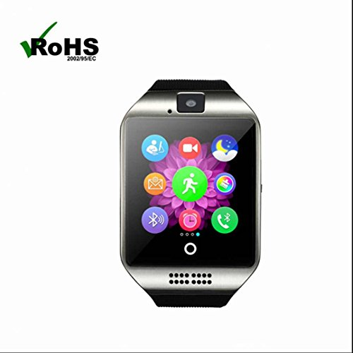 Bluetooth Smart Watch Q18 Met Camera Facebook Whatsapp Twitter Sync SMS Smartwatch Ondersteuning SIM TF-kaart voor Android Smartphone
