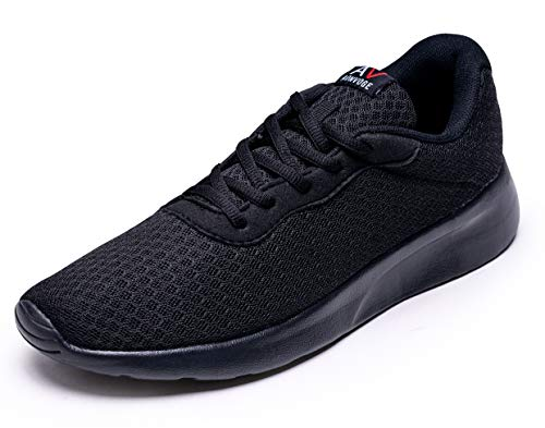 AONVOGE Laufschuhe Herren Schuhe Outdoor Walkingschuhe Straßenlaufschuhe Tennis Turnschuhe Sneaker Joggingschuhe Fitness Leichtgewichts Sportschuhe, Schwarz 42 EU