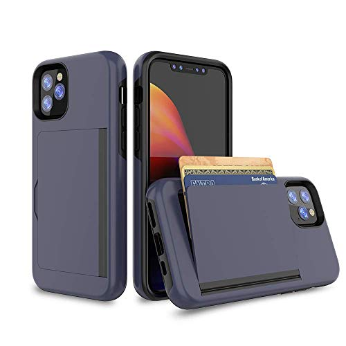 iPhone 11 Pro Max Case, Erudite iPhone 11 Pro Max Wallet Case Best Heavy DutyDurable No Scratch Luxury Front Pocket Wallets for Men iPhone 11 Max Pro Case Card Holder Case for iPhone 11 Pro Max(Blue)