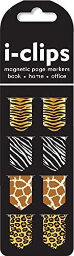 Animal Prints i-Clips Magnetic Page Markers (Set of 8)