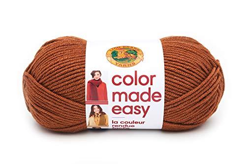 Lion Brand Yarn 195-126 Color Made Easy Garn, Kombucha
