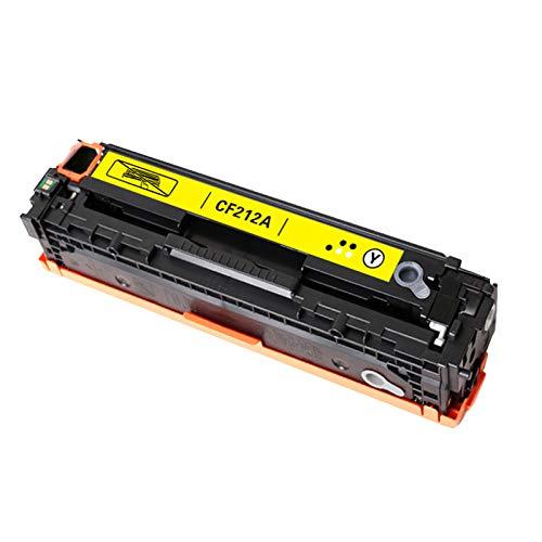para HP 131A CF210A CF211A CF212A CF213A Reemplazo de Cartucho de tóner Compatible para HP Laserjet Pro 200 Color M251N M251NW M276N M276NW Impresora con Chip Yellow