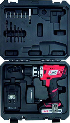 Azor AT-5292 Taladro de Batería de Litio, 18.72 W, 14.4 V,