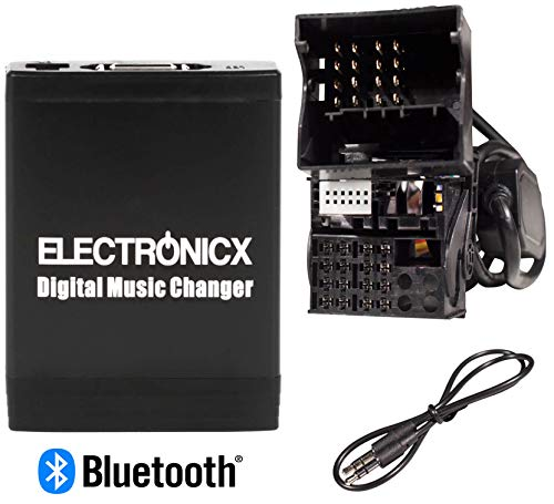 Electronicx Elec-M06-BM2-BT Adattatore MP3, USB, SD,AUX Vivavoce Bluetooth Compatibile per BMW 5 Series E39 X3 X5 Z4 Z8