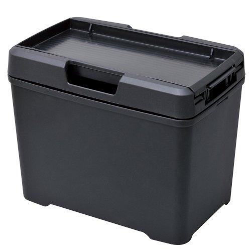 セイワ(SEIWA) 車用 ゴミ箱 ダストボックス L ティシュ おもり付き ブラック W733