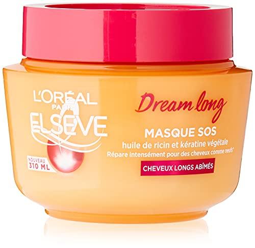 L'Oréal Paris Elseve Dream Long Masque Reconstructeur Enrichi en Huile de Ricin/Kératine pour Cheveux Longs 1 Unité