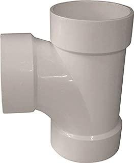 GENOVA PRODUCTS 71160 Genova Dwv Sanitary Pipe Tee, 6 In, Hub, Sch 40, Pvc, 6