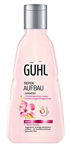 Guhl Tiefen Aufbau Shampoo - 2er Pack (2x 250 ml) - mit Monoi-Öl - regeneriert, kräftigt und schützt das Haar - für strapaziertes Haar