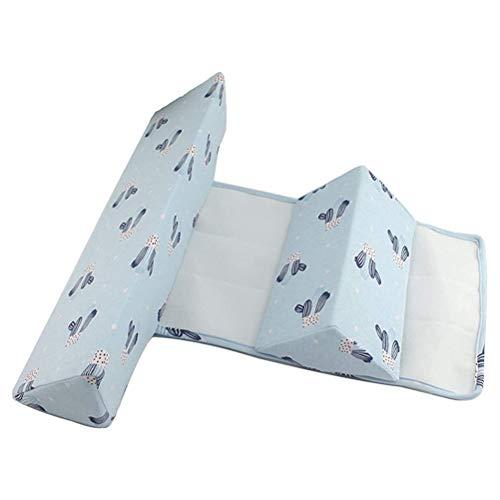Parkomm Seitenstützkissen für Babys, Baby Seite Schlafkissen Anti-Flat Head Triangle Säuglingskissen für Neugeborene