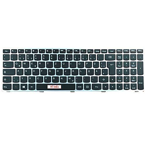Deutsche Tastatur - ohne Hintergrundbeleuchtung - für Lenovo E50-80 (80J2), G50-80 (80E5), B50-30 (80ES), G70-35 (80Q5), E51-80 (80QB), G50-45 (80E3), B70-80 (80MR), G50-70 (20351)