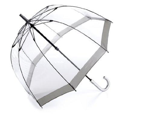Fulton Parapluie Cannes, Bordure argenté (Transparent) - L041 Silver Trim