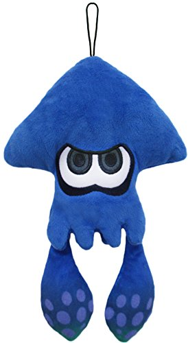 "Little Buddy Splatoon 1435 Dark Blue Inkling Squid Stuffed Plush, Multicolor, 9"""
