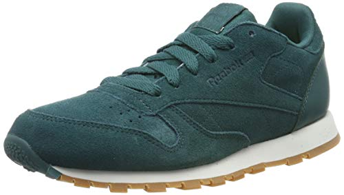 Reebok Unisex-Kinder CL Leather SG Sneaker, Grün (Green Cm9079), 37 EU