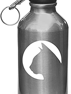 Yadda-Yadda Design Co. Cat Silhouette in Circle - Moon - Vinyl Decal for Water Bottle   Thermos   Car Gas Cap - Copyright (3