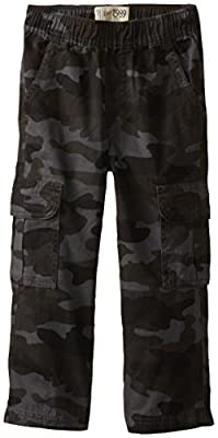 The Children's Place boys Uniform Pull on Chino Cargo Pants, Nightcamo, 12 Husky