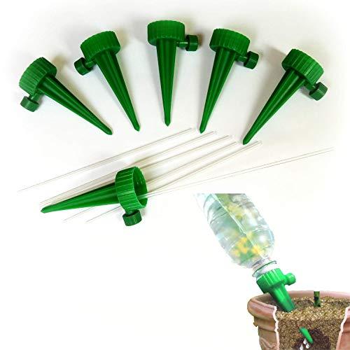 Netrox Gießhilfe für Pflanzen   6X automatische Bewässerung und Wasserspender für Garten Pflanzen Blumen und Zimmerpflanzen Bewässerung   automatisches gießen   Wasserspender Bewässerungssystem