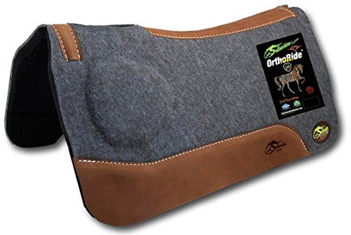 Southwestern Equine OrthoRide Correction Saddle Pad 1' Made in USA (31 x 32, Natural Leathers)