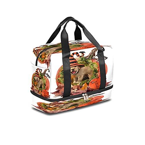 BOLOL - Bolsa de viaje para perro o cachorro, bolsa de deporte para gimnasio, bolsa de calabaza para hombre y mujer