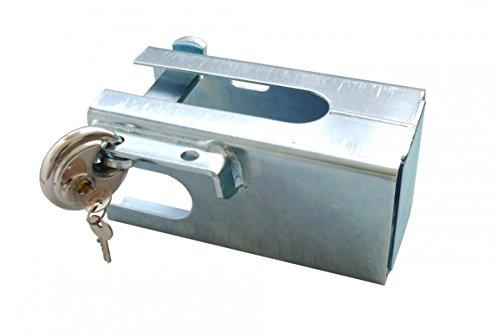 AVB Anhängerkupplung Diebstahlsicherung Kastensicherung gross komplett Set, Silber