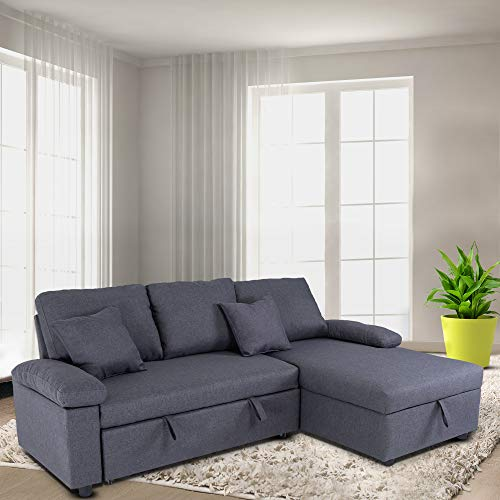 GOOD & GRACIOUS Sectional Sleeper Sofa Couch