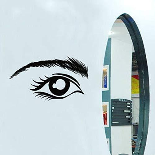 Tianpengyuanshuai Fototapete Wimpern Augenbrauen Mascara Vinyl Wandaufkleber Beauty Salon benutzerdefinierte Fensterglas Dekoration abnehmbare Wandbild 57x32cm