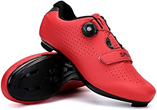 Men Road Bike Peloton Shoes Compatible Cleat Cycling...