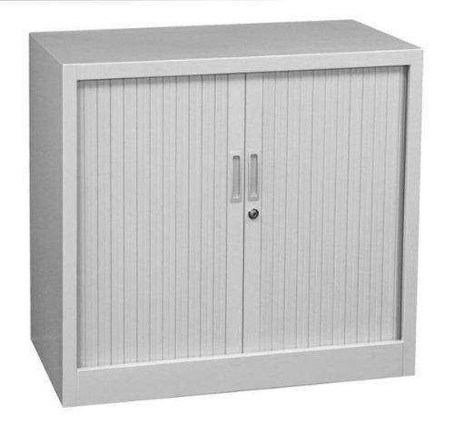 Querrollladenschrank Sideboard 80cm breit Stahl Büro Aktenschrank Rollladenschrank grau 555080 (HxBxT) 750 x 800 x 460 mm kompl. montiert und verschweißt
