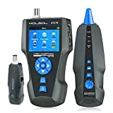 Network Cable Tester, AT278 TDR Multi-Functional LCD Wire Tracker for RJ45, RJ11, BNC, Metal Cable,PING/POE NF-8601S for Length Testing