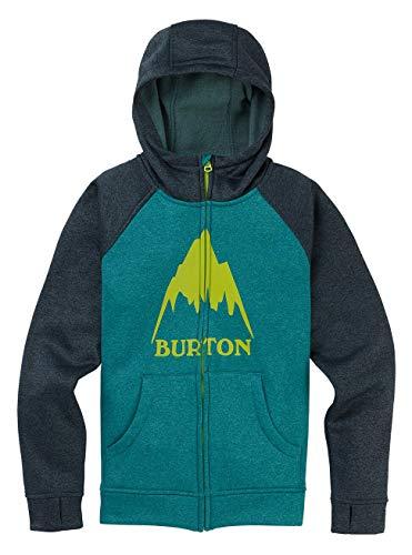 Burton Oak, Felpa con Cappuccio Bambino, Green-Blue Slate Heather, L